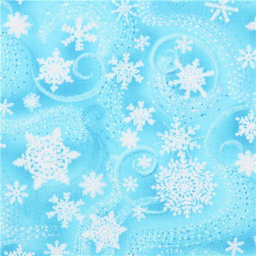 hell blauer eis kristall wirbel stoff mit silber glitzer. Black Bedroom Furniture Sets. Home Design Ideas