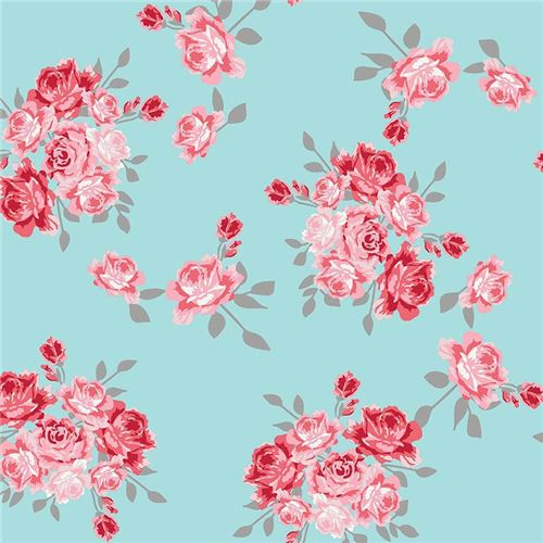 Light blue pretty red pink flower knit fabric riley blake idle wild light blue pretty red pink flower knit fabric riley blake idle wild 2 mightylinksfo