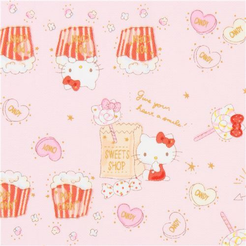 ac50aa8dc light pink Hello Kitty popcorn candy laminate fabric Sanrio Japan ...