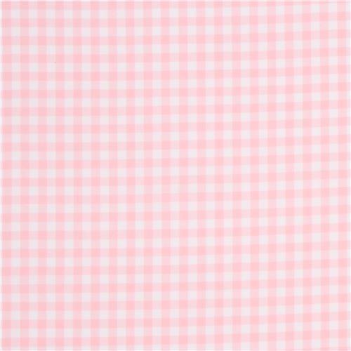 Light Pink White Checkered Robert Kaufman Fabric Carolina