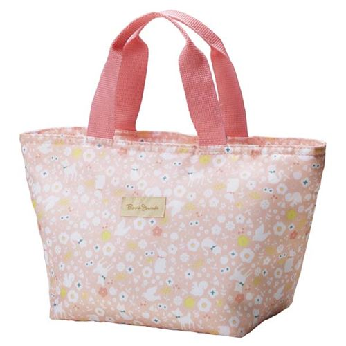 Light pink flower animal thermo lunch bag for bento boxes and light pink flower animal thermo lunch bag for bento boxes and bottles from japan 1 mightylinksfo