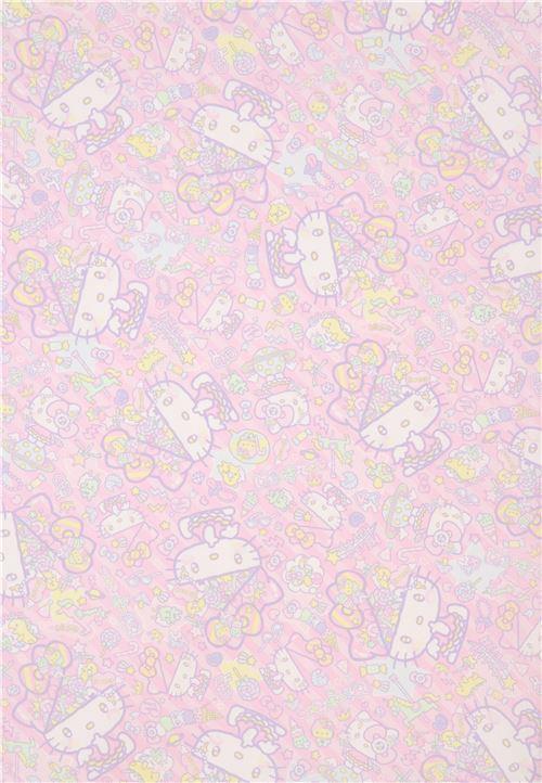Light Pink Stripe Hello Kitty Sweet Treat Fabric Modes4u