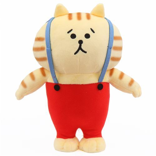 Light Yellow Red Funny Cat Plush Soft Toy From Japan Cat Plush