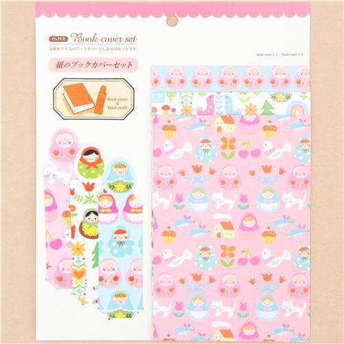 matryoshka colorful book cover and bookmark set Japan - Memo Pads ...