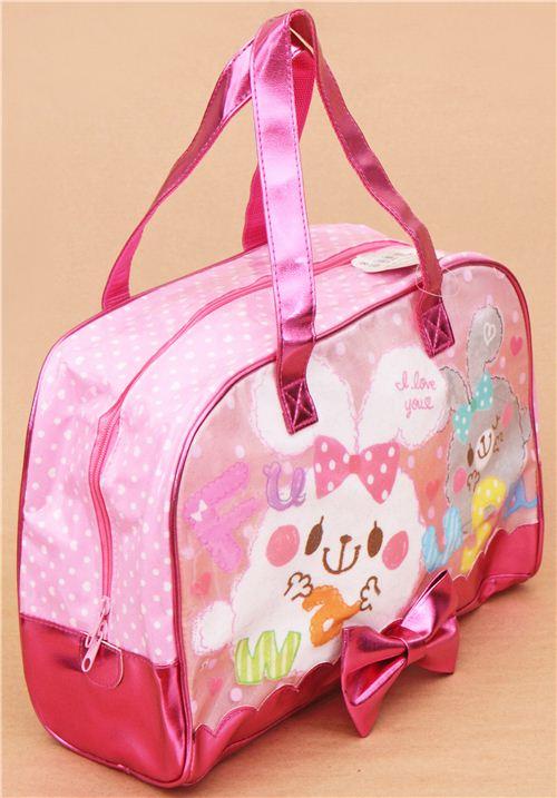 metallic pinke flauschige hasen plastik glitzer tasche aus japan handtaschen taschen. Black Bedroom Furniture Sets. Home Design Ideas