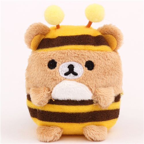 mini Rilakkuma brown bear as bee plush toy by San-X from ...