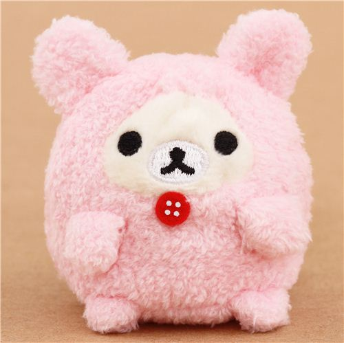 mini Rilakkuma white bear as pink bunny plush toy by San-X ...