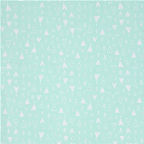 mint green fabric with tent by Dear Stella USA 2  sc 1 st  modeS4u & mint green fabric with tents by Dear Stella USA - Children Fabric ...