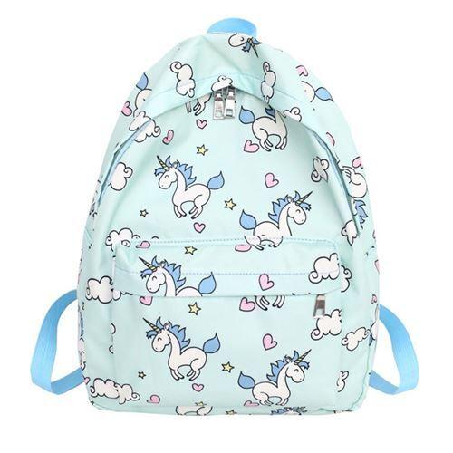 bb4888113714 mint green unicorn backpack for school - modeS4u Kawaii Shop