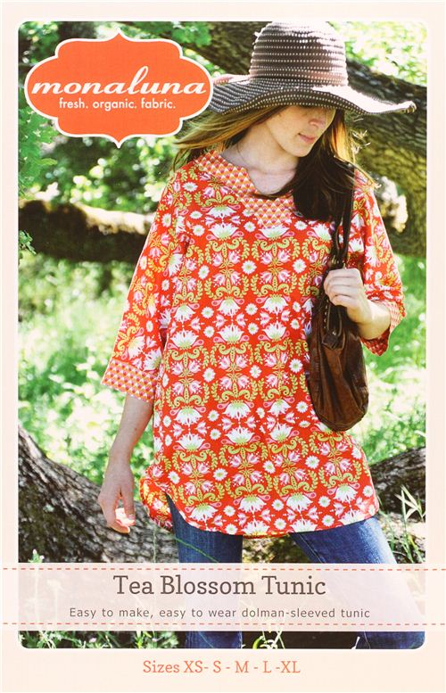 monaluna tunic top sewing pattern Tea Blossom Tunic - Sewing ...