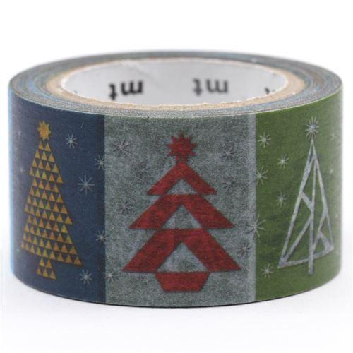 Nastro adesivo mt washi colorato alberi di natale merry christmas nastri adesivi natalizi - Nastri decorativi natalizi ...