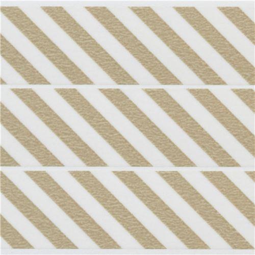 Mt washi masking tape deco tape stripes taupe washi masking tapes deco tapes stationery shop - Deco taupe ...