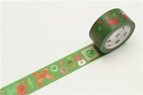 16 cm wide Fabric Tape Festive Table Tape ribbon bow Green-Gold