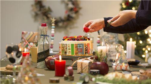 Nastro adesivo mt washi rosso globi di vetro merry christmas nastri adesivi natalizi nastri - Nastri decorativi natalizi ...