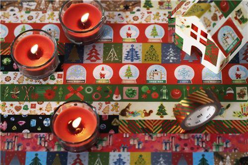 Nastro adesivo mt washi strisce rosse verdi dorate merry christmas nastri adesivi natalizi - Nastri decorativi natalizi ...