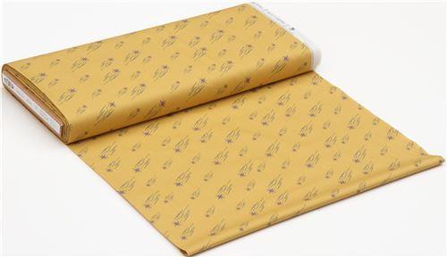 Mustard Yellow Shooting Star Fabric Modes4u