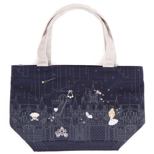 sac d jeuner bleu marine avec doublure isotherme amovible s rie contes de f es sacs main. Black Bedroom Furniture Sets. Home Design Ideas