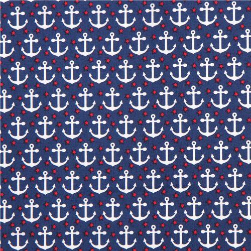 Novedad mar azul marino Sevenberry Venta De Tela Artesanal anclas Náutica barcos