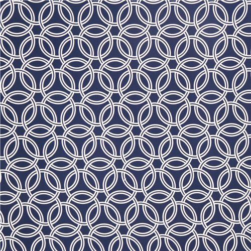 Navy Blue Ring Pattern Cotton Sateen Fabric Michael Miller