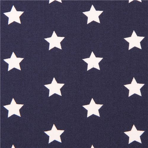 navy blue star pattern fabric by dear stella usa kawaii ForStar Design Fabric