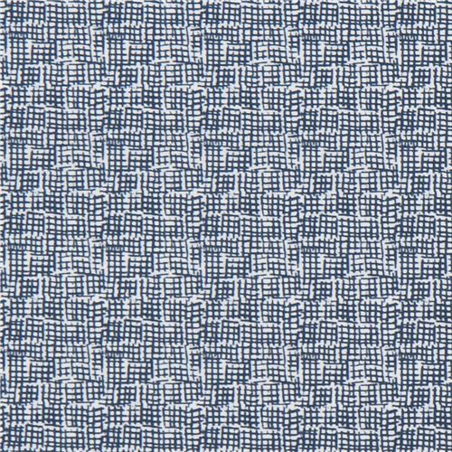 navy blue white fabric with small square grid design by Dear Stella ...