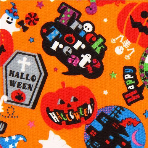 orangener Cosmo Halloween Stoff Trick Or Treat Kürbis Geist ...