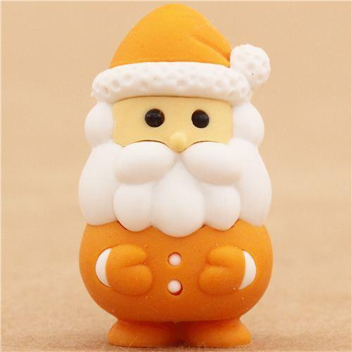 orange Santa Claus Christmas eraser by Iwako from Japan ...