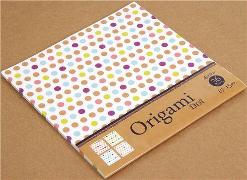 origami punkte papier set in 4 farben aus japan weitere s sse dinge kawaii shop modes4u. Black Bedroom Furniture Sets. Home Design Ideas