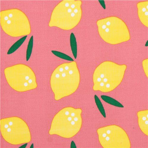 rosa 39 lemon drop 39 zitrone essen cloud 9 kord bio stoff essen stoffe stoffe kawaii shop modes4u. Black Bedroom Furniture Sets. Home Design Ideas
