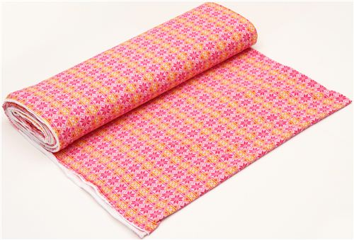 pale pink argyle pattern Michael Miller interlock fabric - Knit ...