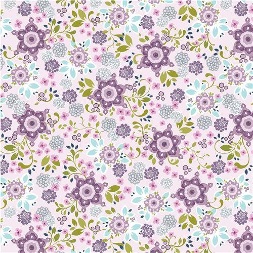 Tela lila claro linda flor violeta púrpura morado rosa hoja de Henry ...