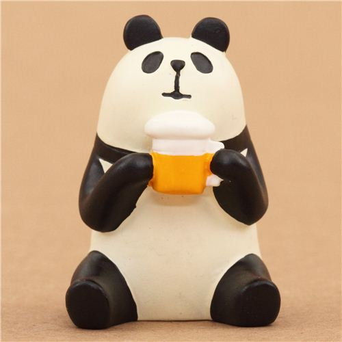 panda with beer figurine from decole japan - modes4u
