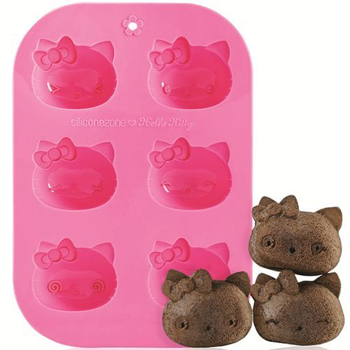 pink Hello Kitty silicone Muffin mold cake mold Bento