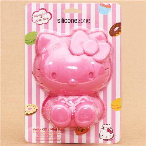 pink Hello Kitty silicone mini cake pan cake mold Bento