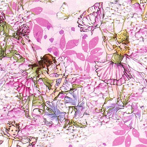 Pink michael miller fabric flowers fairies butterfly flower fabric pink michael miller fabric flowers fairies butterfly mightylinksfo