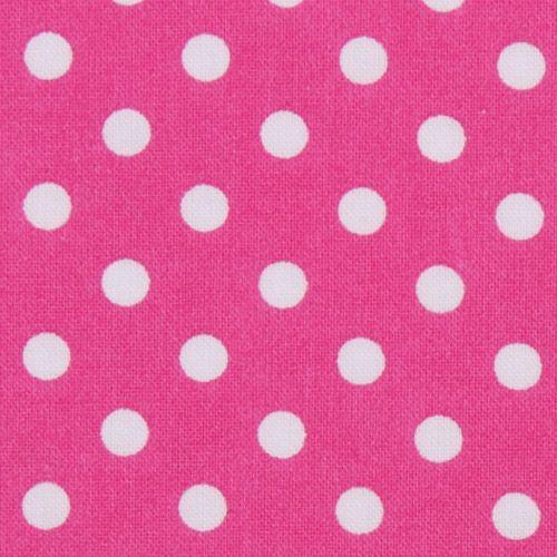 pink michael miller fabric small white polka dots kawaii fabric shop. Black Bedroom Furniture Sets. Home Design Ideas