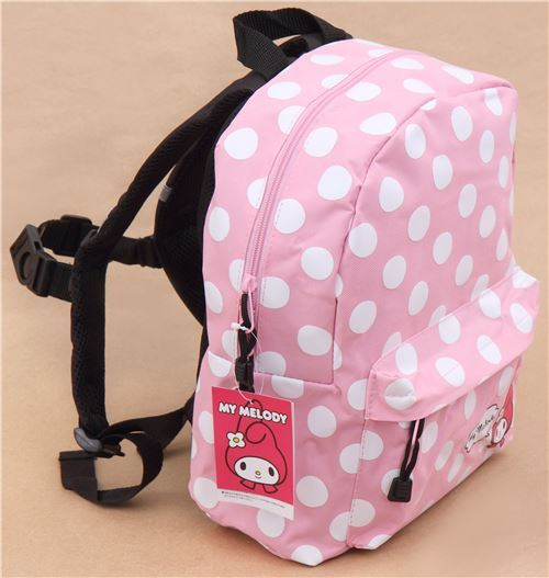 pink My Melody white dot childrens backpack school bag - modeS4u ... 4e893c06a6