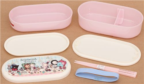 Pink Sentimental Circus Afternoon Tea Bento Box Lunch Box