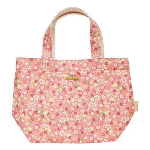 pink and cream color Rilakkuma reversible handbag from Japan ...