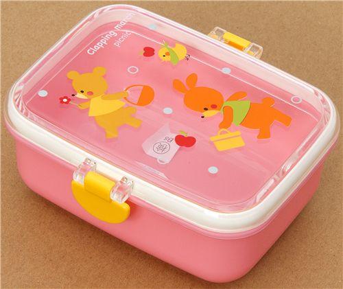 rosa tiere bento box brotdose kawaii bento box bento boxen kawaii shop modes4u. Black Bedroom Furniture Sets. Home Design Ideas