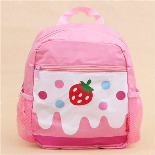 e179431b61 pink cake strawberry childrens backpack school bag - modeS4u Kawaii Shop