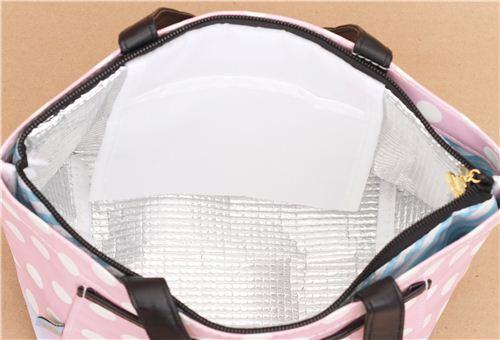 Borse Porta Pranzo Ufficio : Borsa porta pranzo termica rosa pois con borsa rimovibile dal