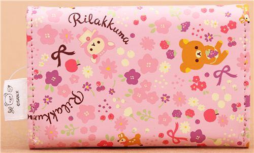 Pink deer rilakkuma bear business card case card holder wallets pink deer rilakkuma bear business card case card holder 3 colourmoves
