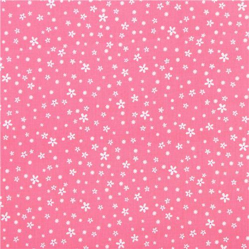 tissu rose avec des mini fleurs princess blossoms par. Black Bedroom Furniture Sets. Home Design Ideas