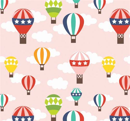 Tela rosa globo aerost tico de riley blake lazy day - Globos aerostaticos infantiles ...