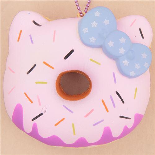 pink icing Halloween pumpkin Hello Kitty donut squishy charm ...