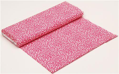 Pink Leopard Print Fabric By Robert Kaufman 3
