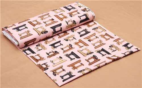Pink Sewing Machine Fabric Robert Kaufman Vintage Couturier Retro Beauteous Vintage Sewing Machine Fabric