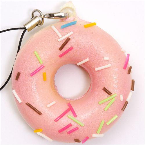 pink donut squishy charm kawaii - Food Squishy - Squishies - Kawaii Shop modeS4u