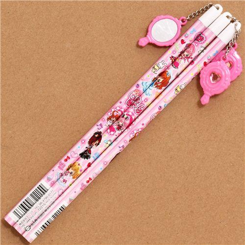 pink striped kawaii anime girls pencil from japan pens pencils